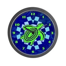 Green Cutout Turtle Wall Clock