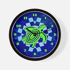 Green Cutout Turtle Wall Clock
