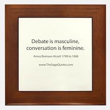 Debate Framed Tile
