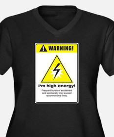 High Energy Women's Plus Size V-Neck Dark T-Shirt