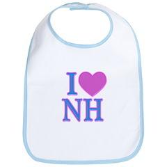 I Love NH Bib