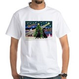 Black lab christmas Mens White T-shirts
