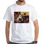 Santa's 2 Black Labs White T-Shirt