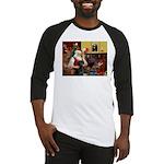 Santa's Black Lab Baseball Jersey