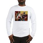 Santa's Black Lab Long Sleeve T-Shirt