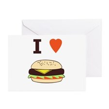 I Love Cheeseburgers Greeting Cards (Pk of 20)
