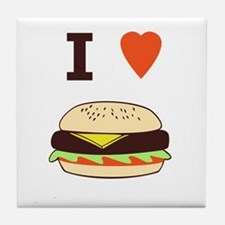 I Love Cheeseburgers Tile Coaster