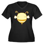 Baby Bee Women's Plus Size V-Neck Dark T-Shirt