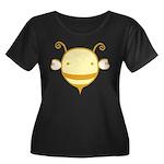Baby Bee Women's Plus Size Scoop Neck Dark T-Shirt