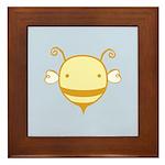 Baby Bee Framed Tile