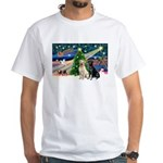 Xmas Magic/2 Labs (Y+B) White T-Shirt