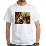 Santa's 2 Labs (Y+B) White T-Shirt
