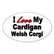 Cardigan Welsh Corgi Oval Decal
