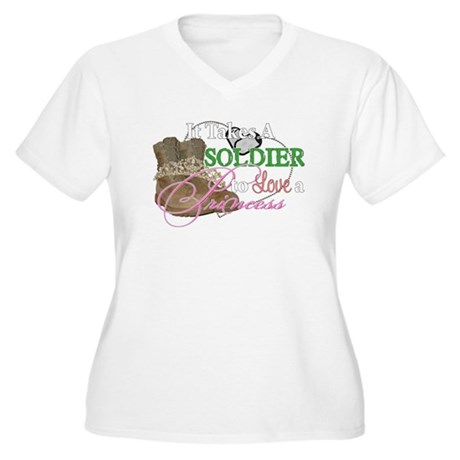 It Takes A Soldier Women's Plus Size V-Neck T-Shir