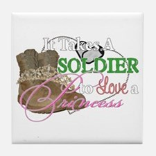 It Takes A Soldier Tile Coaster