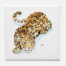 Jaguar Wild Cat Tile Coaster