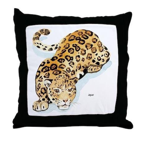 Jaguar Wild Cat Throw Pillow