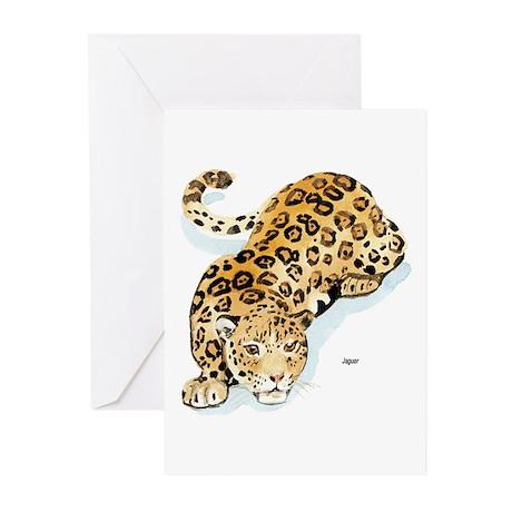 Jaguar Wild Cat Greeting Cards (Pk of 10)