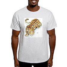 Jaguar Wild Cat (Front) Ash Grey T-Shirt