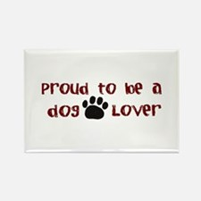 Proud Dog Lover Rectangle Magnet