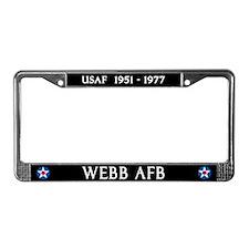 Webb Air Force Base License Plate Frame