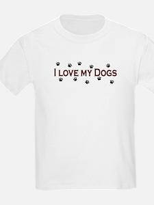 I Love My Dogs T-Shirt