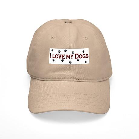 I Love My Dogs Cap