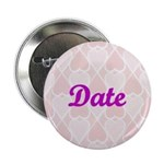 Date Pink Hearts Button