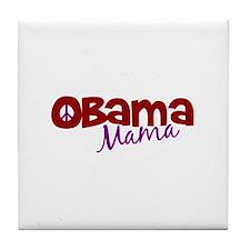Obama Mama (new) Tile Coaster