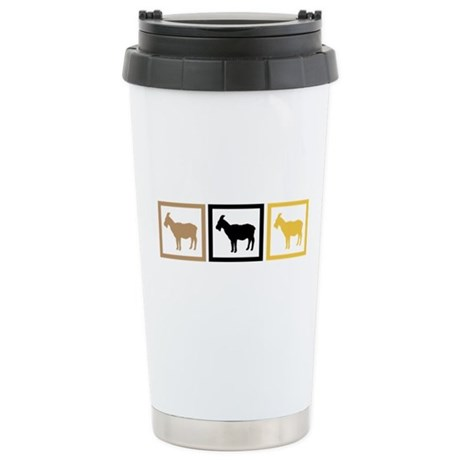 Goat Squares Stainless Steel Travel Mug