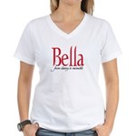 Bella from clumsy to invincib Women's V-Neck T-Shi
