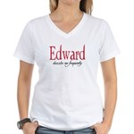 Edward dazzles me frequently Women's V-Neck T-Shir