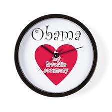 Cute I heart obama Wall Clock