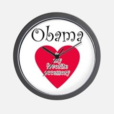 Unique I heart obama Wall Clock