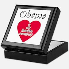 Cute I heart obama Keepsake Box