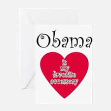 Cute I heart obama Greeting Card