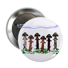 "Watercolor Dachshunds 2.25"" Button (10 pack)"