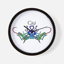 Gigi's Celtic Dragons Name Wall Clock