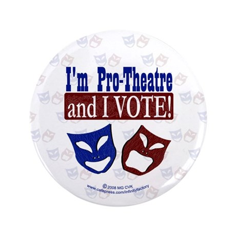 "Pro Theatre Vote 3.5"" Button (100 pack)"