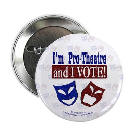 """Pro Theatre Vote 2.25"""" Button (100 pack)"""