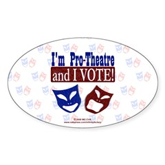 Pro Theatre Vote Oval Sticker (50 pk)