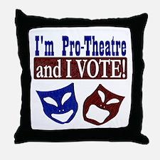 Pro Theatre Vote Throw Pillow