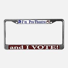 Pro Theatre Vote License Plate Frame