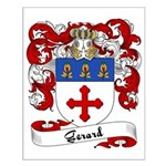 Gerard Family Crest Small Poster