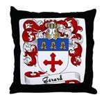 Gerard Family Crest Throw Pillow