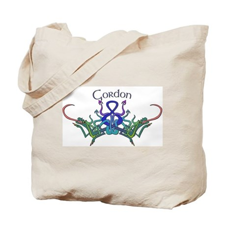 Gordon's Celtic Dragons Name Tote Bag