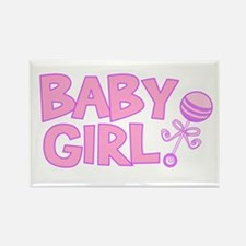Baby Girl Rectangle Magnet