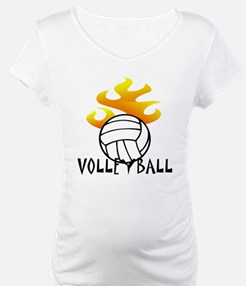 Volleyball with Flames Shirt