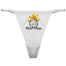 Volleyball with Flames Classic Thong
