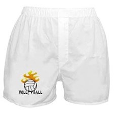 Volleyball with Flames Boxer Shorts